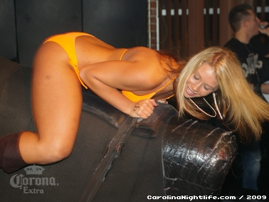 Bikini Bull Riding contest Thursday nights at BAR Charlotte - Photo #22557