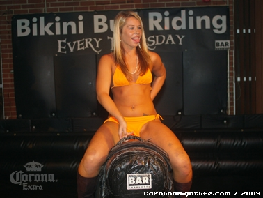 Bikini Bull Riding contest Thursday nights at BAR Charlotte - Photo #22649
