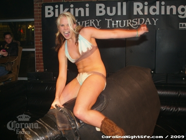 Bikini Bull Riding contest Thursday nights at BAR Charlotte - Photo #22659