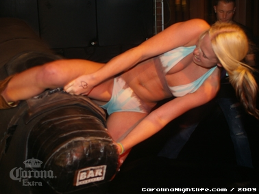 Bikini Bull Riding contest Thursday nights at BAR Charlotte - Photo #22661